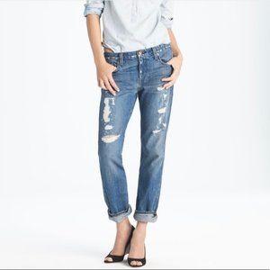 JCrew vingtage straight distressed jean